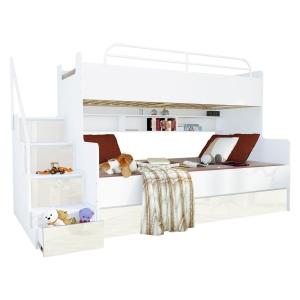 Nowoczesne łóżka Piętrowe Młodzieżowe Ze Schodkami Z